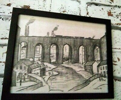 £12 • Buy Ls Lowry. The Viadut, Stockport Signed  Framed Print.