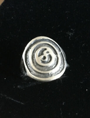 Early OLA GORIE OMG Scottish Orkney Silver Celtic Sun Circle Infinity Ring  • 75£