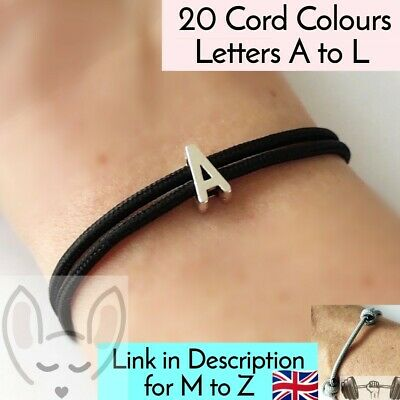 £3.95 • Buy Letter Bracelet A To L - Alphabet Charm Initial Personalised Bracelet Name Gift