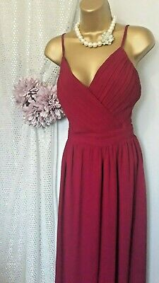 Little Mistress,burgundy Cruise Ball Gown ,pleated Cross Over Bust,s18/42  • 12£