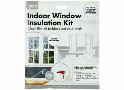 £2.84 • Buy Insulation Kit Clear Double Glazing 🔥 Window Insulation Film Draught Cold Seal