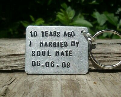 10th Ten Year Anniversary Gift SOULMATE Aluminium Tin PERSONALISED Gifts For Him • 12.99£