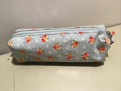 Cath Kidston Kids Bag Pouch Zip Pencil Case Apple Ditsy Good Condition BARGAIN • 2.99£