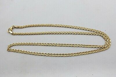 AU395 • Buy 9ct Yellow Gold Decorative Anchor Link Chain Necklace 375 9k