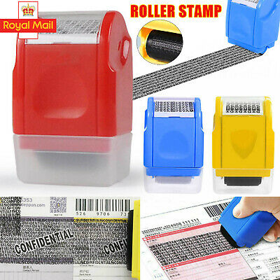 New Roller Stamp Identity Privacy ID Confidential Guard Data Theft Protection UK • 7.79£