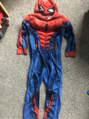 Boys Padded Super Hero Costumes Spiderman Age2-4 With Face Mask Rare Marvel • 4.50£