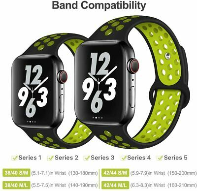 $ CDN6.29 • Buy Breathable Sport Silicone Strap Apple Watch Band IWatch Series SE 6 5 4 3 2 1