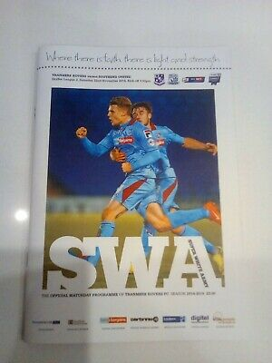 Tranmere Rovers V Southend United Football Programme 2014 • 1.20£