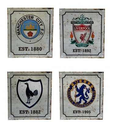Retro Vintage Premier Football Club Team Metal Signs Official Licensed Product  • 8.49£