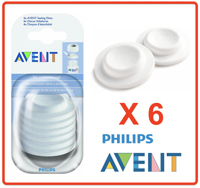 AU18.90 • Buy ❤ Philips AVENT BPA Free Natural Classic Bottle Sealing Discs (6 Pack) ❤