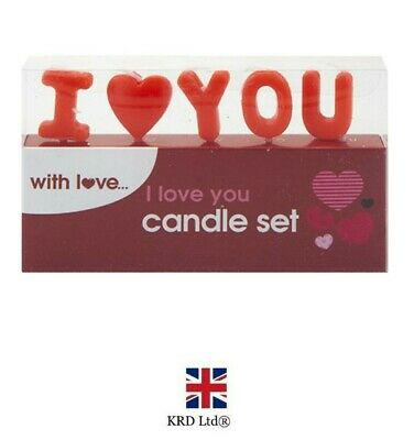 £2.95 • Buy I LOVE YOU Red Candles Set Romantic Gift Valentines Day Decor Cake Topper P7081