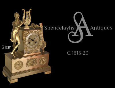 £550 • Buy French Gilt Ormolu Empire Clock Of Small Proportions