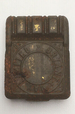 Antique TIN  Advertising Vesta Case Wax Matches Box Bryant & May Limited  • 19.99£