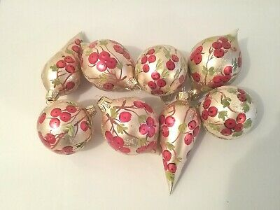$ CDN19.99 • Buy Nice Vtg. Lot Of 8 Frosted Christmas Glass Ornaments.