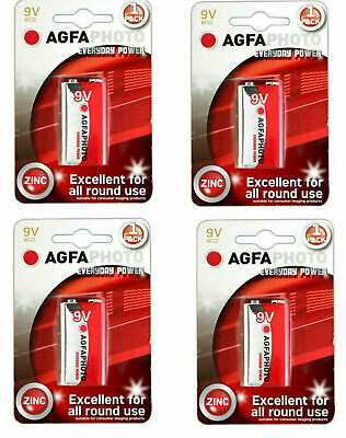 AU7.22 • Buy 9V 9 VOLT PP3 ZINC CHLORIDE BATTERIES FOR SMOKE ALARM LONG LIFE 4 Pack
