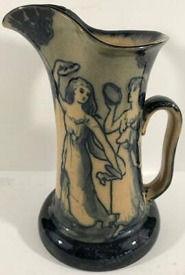 $ CDN12.69 • Buy Antique Royal Doulton Morrison Ware Pitcher W/ Dancing Woman Playing Tambourines