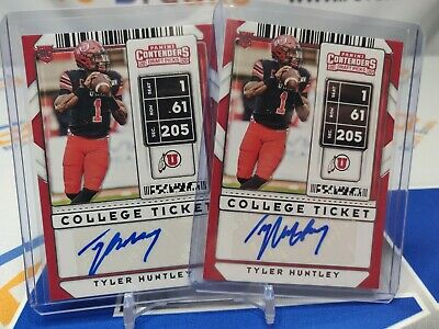 $ CDN1.26 • Buy TYLER HUNTLEY 2020 Contenders Draft Ticket AUTO / AUTOGRAPH *2 CARD LOT*