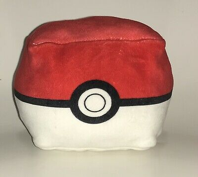 Nintendo Pokemon Square Poke Ball Plush Fluffy • 14.46£