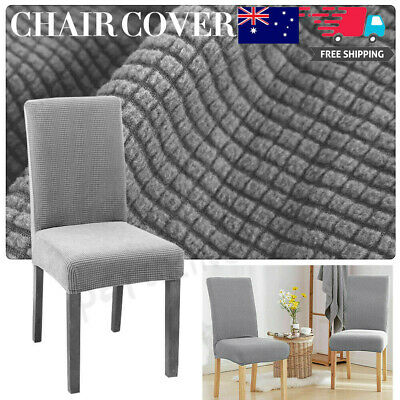 AU5.99 • Buy Dining Chair Covers Jacquard Removable Slipcover Washable Banquet Event AU X1