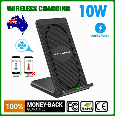 AU25.39 • Buy Wireless Charger Dock Fast Charging Stand W/ Cooling Fan For IPhone Samsung S21+