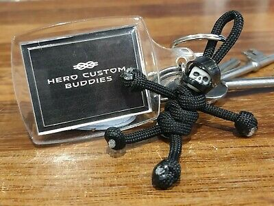Hero Custom Buddies Skull Motorcycle Black Keyring Handmade In The UK • 5.95£