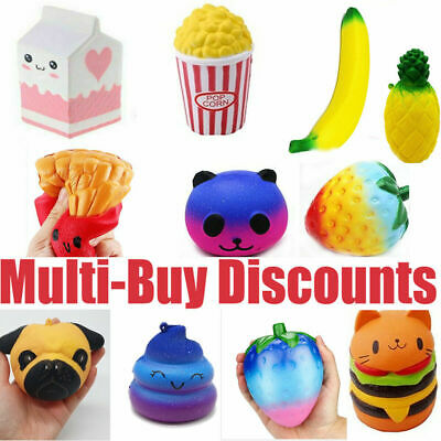 AU9.19 • Buy Cute Jumbo Slow Rising Squishys Squeeze Toy Stress Reliever Toy Gift 15Style Hot