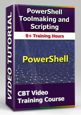 £4.34 • Buy PowerShell Tооlmаking And Sсriрting - CBT Video Training Course - 8+ Hours