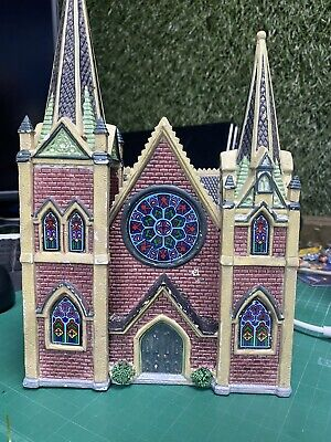 $ CDN102.91 • Buy Lemax 1996 Caddington Village Building - Stained Glass Church-cathedral 65207