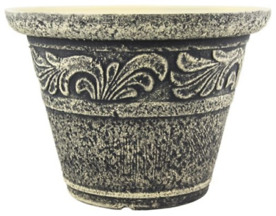 £14.99 • Buy Small Large Stone Look Plant Pot Outdoor Garden Vintage Round Plastic Planter