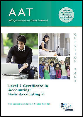 AAT - Basic Accounting 2: Question Bank By BPP Learning Media (Paperback, 2011) • 8.30£