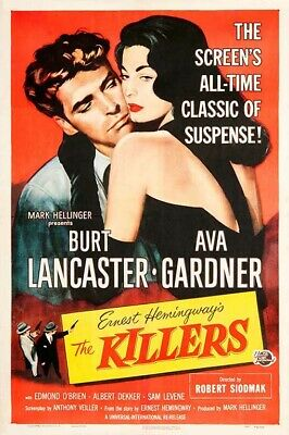 The Killers 40s A4A3 Movie POSTER PRINT Ava Gardner Classic Vintage Film WallArt • 6.99£