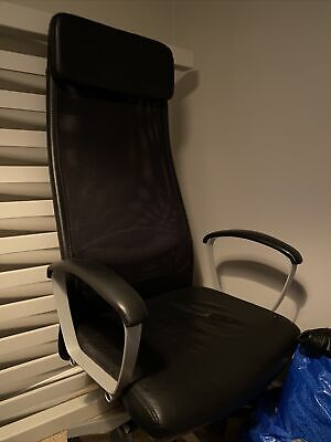 IKEA Markus Office Swivel Chair - Black & Mesh - Great Condition - Office Chair • 128£