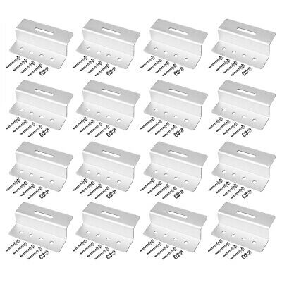 AU46.99 • Buy 16 Pack Rust Free Solar Panel Mounting Brackets Z Clip, Aluminum Alloy