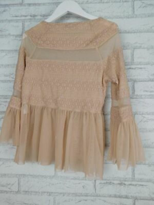 AU17.50 • Buy Forever New Top/blouse 3/4 Flared Sleeves Sz XS, 8 Pink
