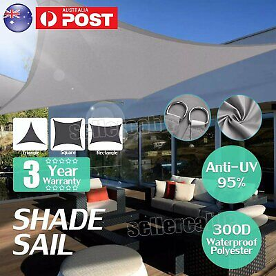 AU35.29 • Buy UV Proof Shade Sail Triangle Rectangle Square Extra Heavy Duty Canopy Outdoor AU