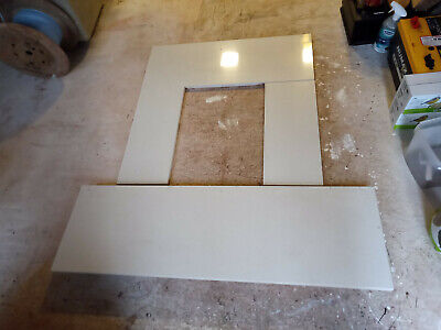 £80 • Buy Quartz Stone Fireplace Backpanel And Hearth Set, Cream For Electric Or Gas Fires