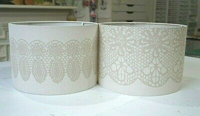 Handmade Lampshade - Wilman Interiors Chantilly Lace - Taupe • 35£