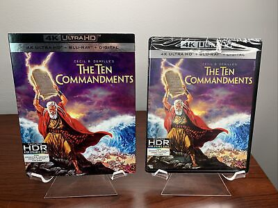 AU49.84 • Buy The Ten Commandments (4K UHD + Blu-ray + Digital + Slipcover) Factory Sealed
