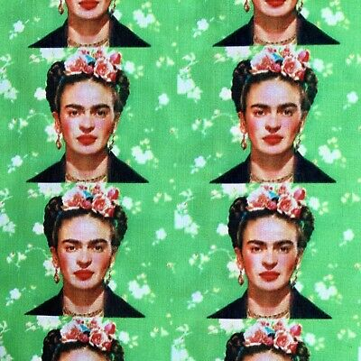 £4.50 • Buy Fq Frida Kahlo Mexican Artist Icon Character  Polycotton Fabric