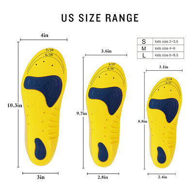 Children's Sports Shoes With Cut Insoles Insoles Cushion Support Shock • 6.17£