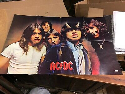 $79 • Buy C1979 Vintage AC DC Promotional Concert Give Away Poster Atlantic 34 X 22 Folded