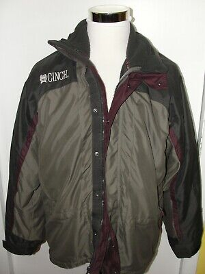 $79.99 • Buy Cinch Western 3 In 1 Jacket Coat Winter Removeable Lining Mens Sz L Brown