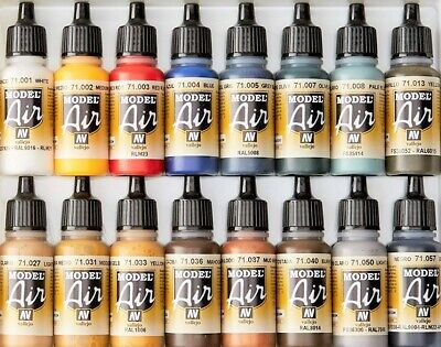 £3.39 • Buy Vallejo Model Air Color Acrylic Paints - 17ml Bottles - Full Range Available