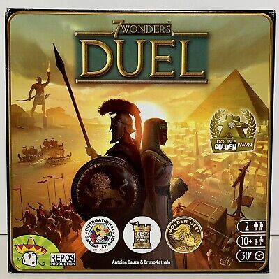 $ CDN23.94 • Buy 7 WONDERS DUEL 2 Player Strategy Board Game, Repos Production EC Complete