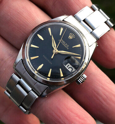 $ CDN4146.54 • Buy Vintage Rolex Oyster Date Precision 6466 Gilt Dial From 1963 #30mm