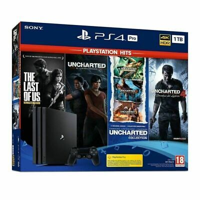 AU856.98 • Buy Sony PlayStation 4 Pro 1TB Console + Last Of Us + Uncharted Legacy/Collection/4