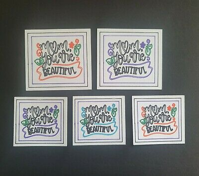 £2.99 • Buy Handmade Craft Card Topper Sentiments, Mothers Day, Embellishments, Set Of 5