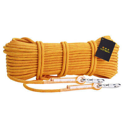 Safety Rope Climbing Rappelling   Fire Escape Equipment 25KN Yellow 20m • 39.96£