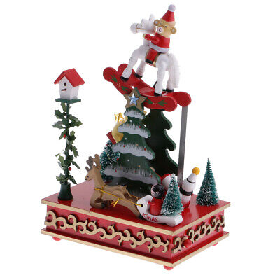 Wind Up Music Box Christmas Tree W/ Seesaw Kids   Gift Party Decorations • 19.41£