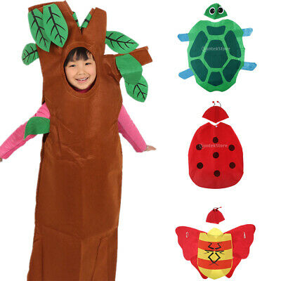 Kids Insects Tree Flower Star Moon Costume Set Fabric Outfit Forest Party Dress • 6£